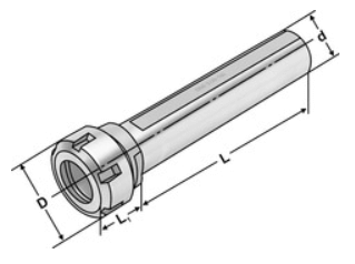 Collet chucks with weldon shank DIN 6499(ISO15488) ER-system