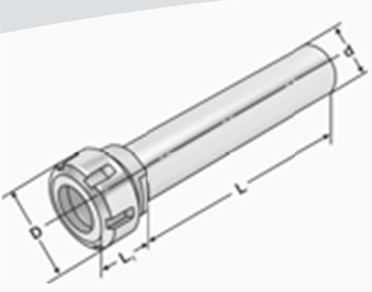 Collet chucks with straight shank DIN 6499(ISO15488) ER-system