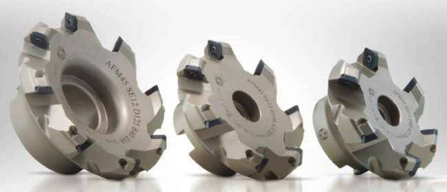 Face milling cutter 45° for inserts R245 12T3 - SEET / SEMT