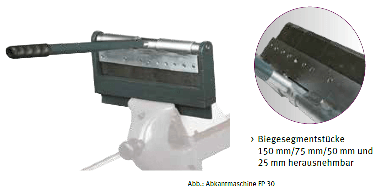 Folding machine FP 30 - universally deployable