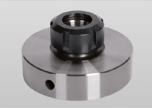 Collet chuck with short taper mount